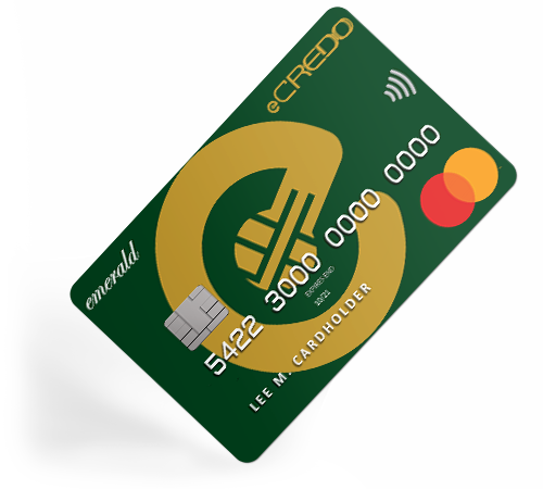 Personal Family Emerald Mastercard debit card unique IBAN by eCREDO UAB