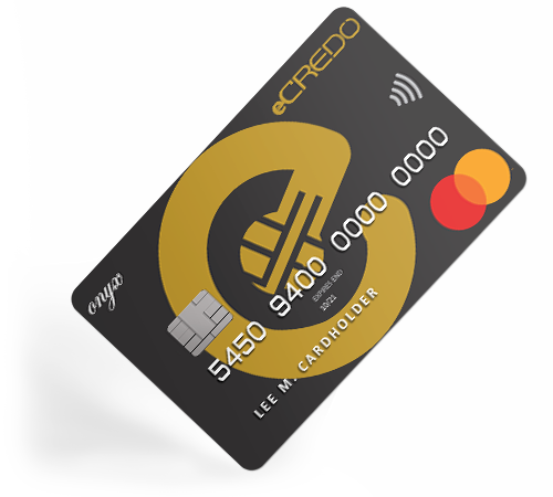 Business Onyx Mastercard debit card unique IBAN by eCREDO UAB
