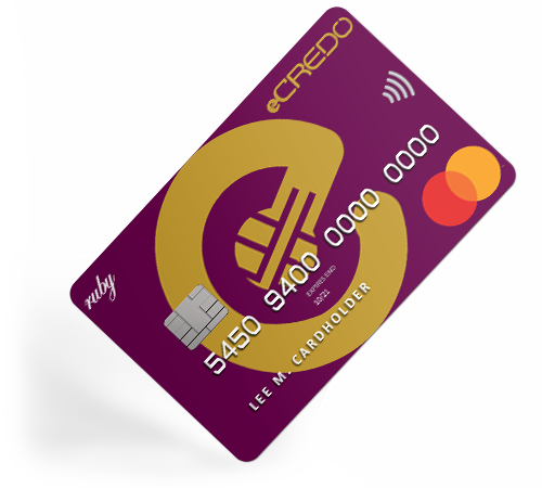 Business Ruby Mastercard debit card unique IBAN by eCREDO UAB